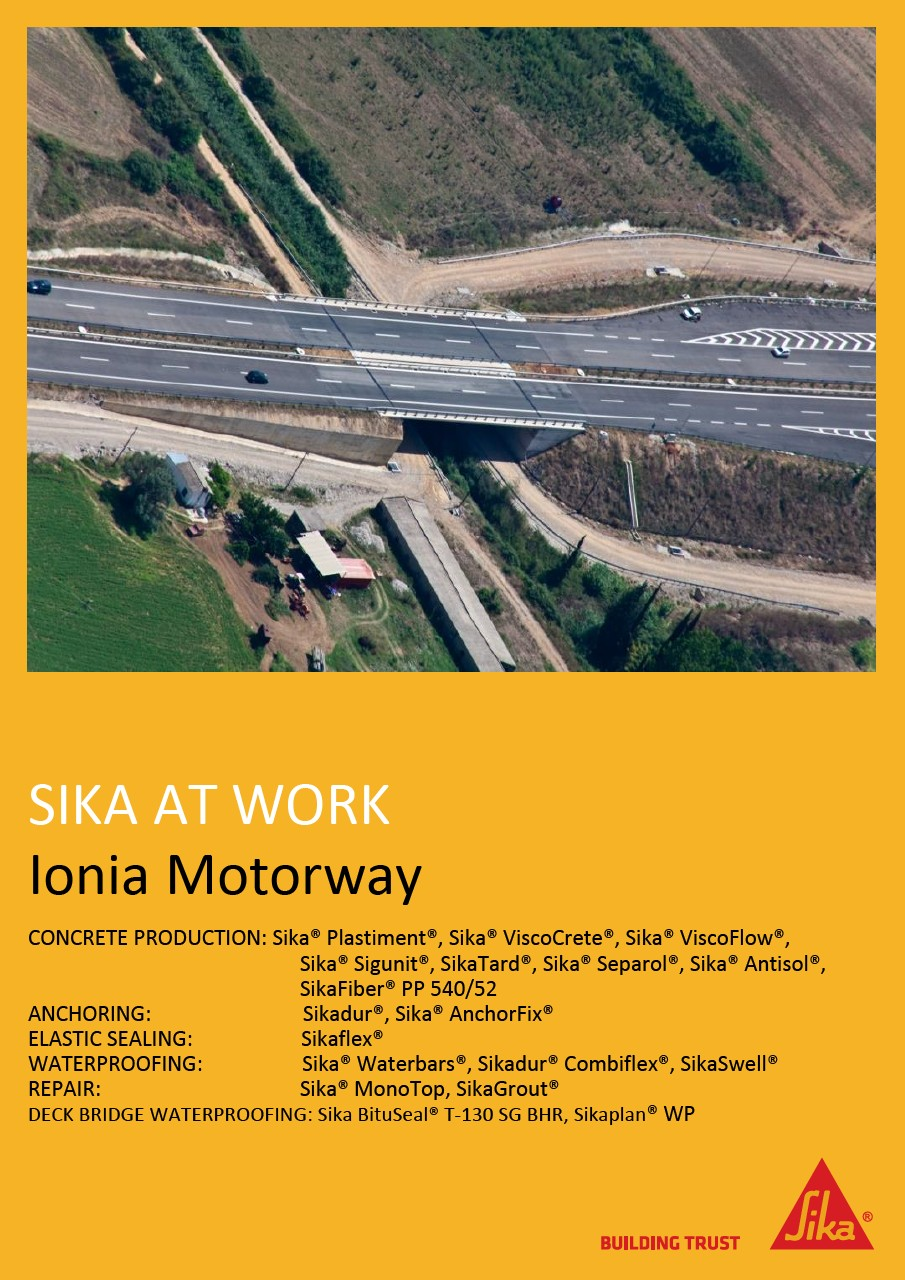 Ionia Motorway in Greece
