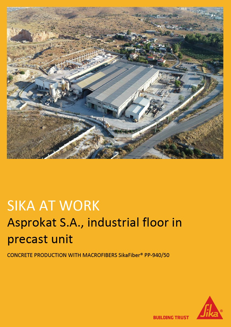 Industrial Floor in Precast Unit in Greece