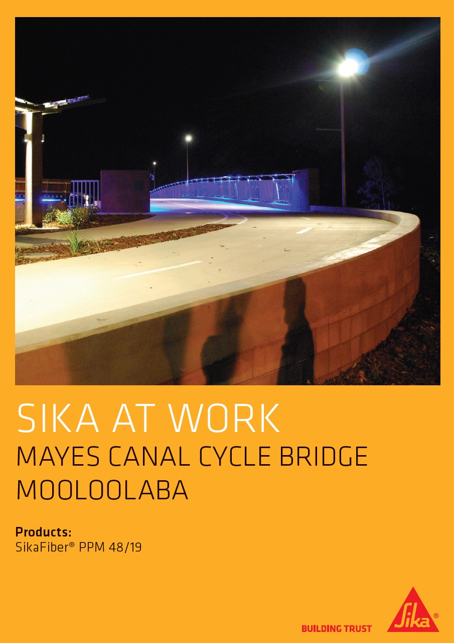 Mayes Canal Cycle Bridge in Mooloolaba, Australia with SikaFiber®