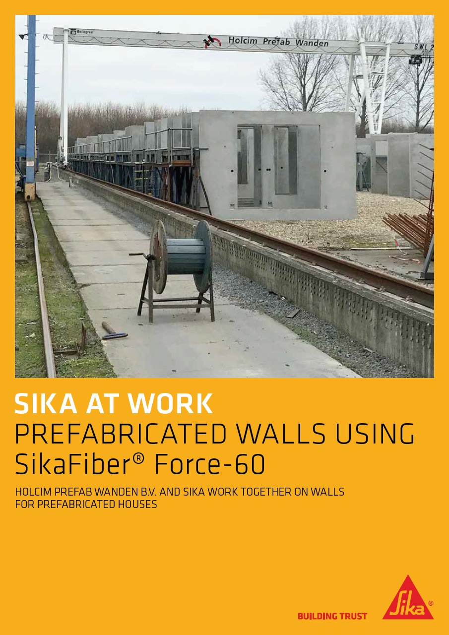 Prefabricated Walls Using SikaFiber Force-60 with Holcim Prefab Wanden B.V.